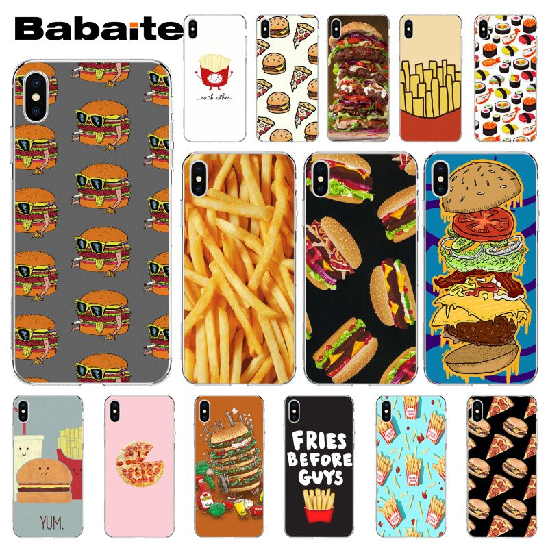 Smart Babaite Hamburger Sushi French Fries Novelty Fundas Phone Case For Apple Iphone 8 7 6 6s Plus X Xs Max 5 5s Se Xr Mobile Cases Relieving Heat And Thirst. Cellphones & Telecommunications