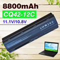 8800mAh 12 cell  battery for HP PAVILION DM4 DV3  DV5 DV6 DV7 G32 G62 G42 G6 for Compaq Presario CQ32 CQ42 CQ43 CQ56 CQ57 CQ62