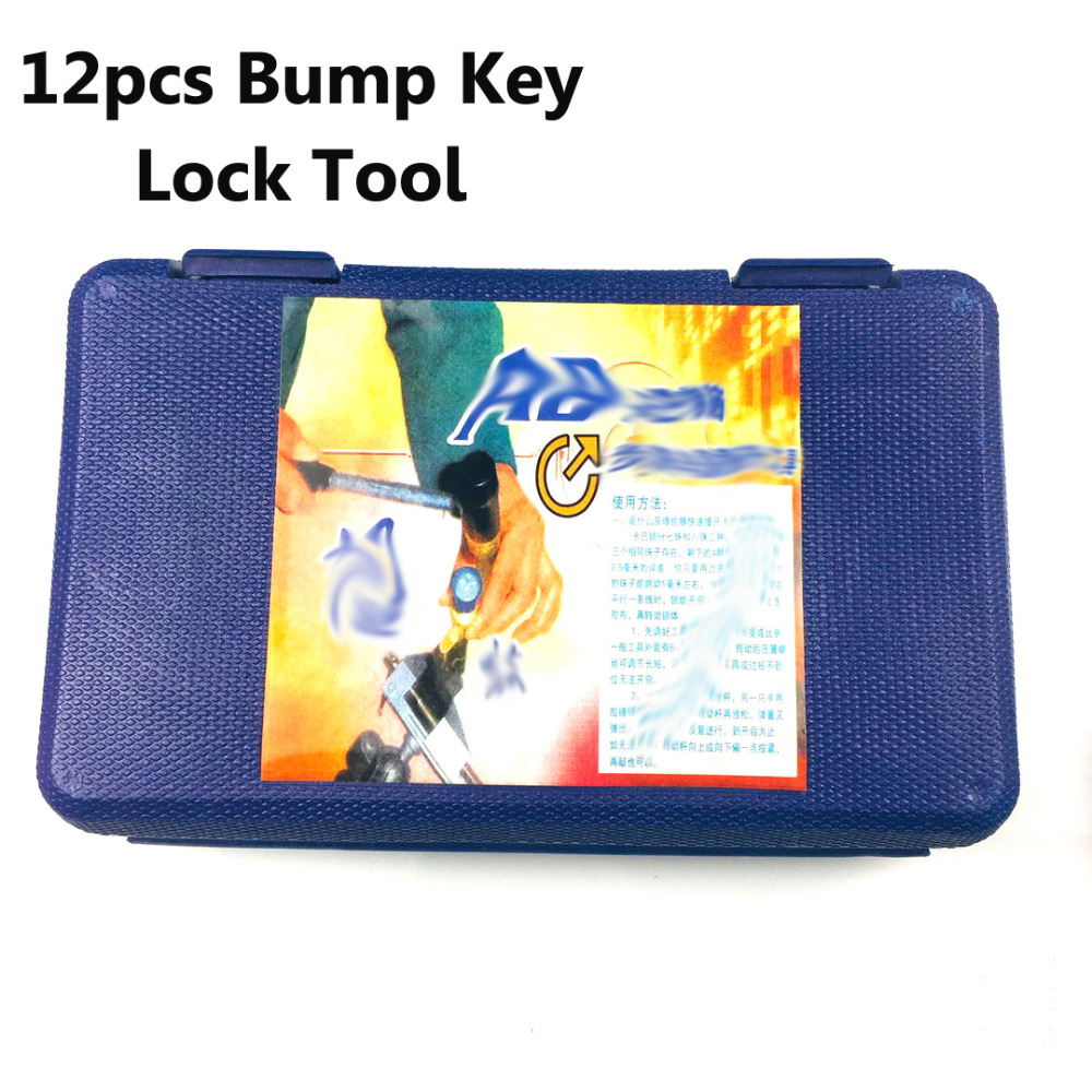 Free Shipping Professional Locksmith Tools 9pcs Bump Key Lock Gun ,12pcs Bump Key Tools free shipping2016 hot sale hu92 strong power stainless steel key for car professional locksmith tools