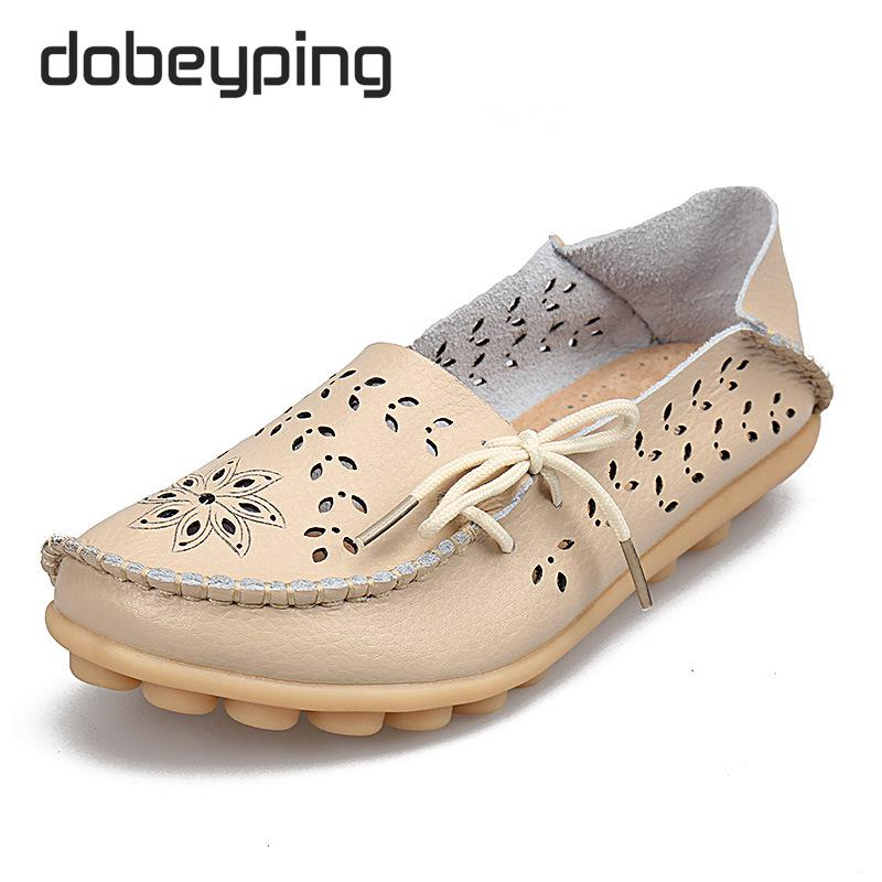 Frauen Casual Schuhe Aus Echtem Leder Frau Müßiggänger Slip-On - Damenschuhe - Foto 6