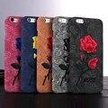 Para iphone 6 6 s chic rose bordado retro case para iphone 7 6 6 S Más Difícil Arte Hecho A Mano Flor Cubierta Elegante Cubierta Del Teléfono Bolsos