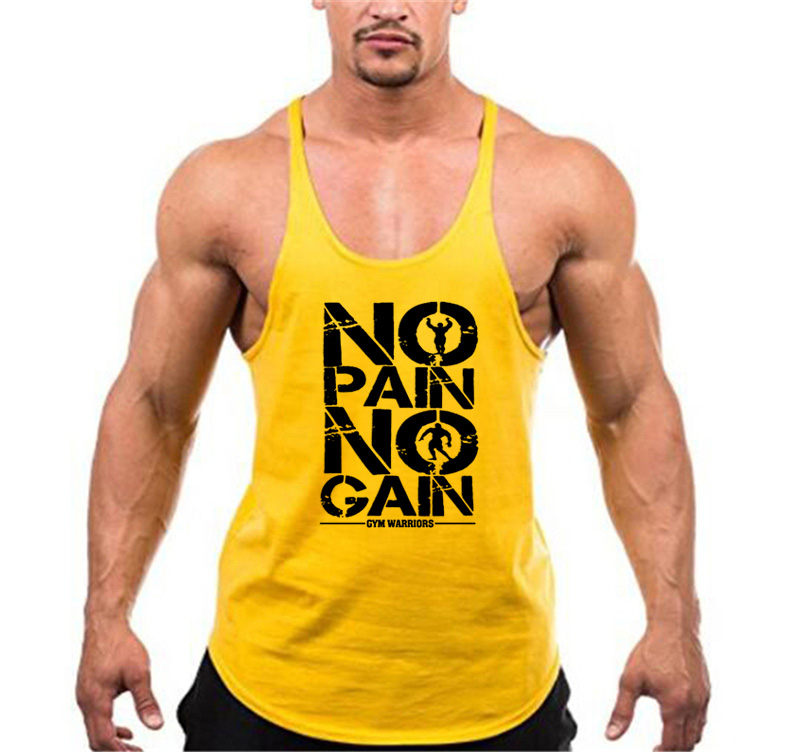 Brand Clothing Muscle Bodybuilding Stringer Tank Top Mens Fitness Singlets Cotton Sleeveless shirt Workout Sportwear Undershirt 31