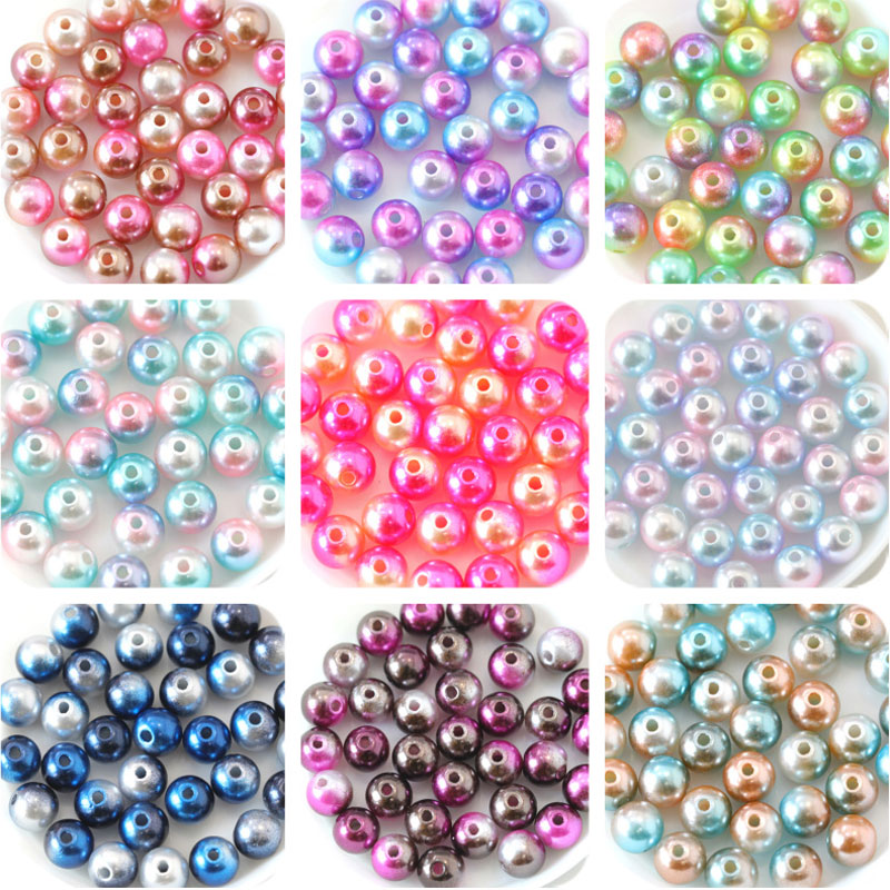 Dummy Clips ALL PEARL Pearl Pony Beads All Colours Multi Listing 100//500//1000