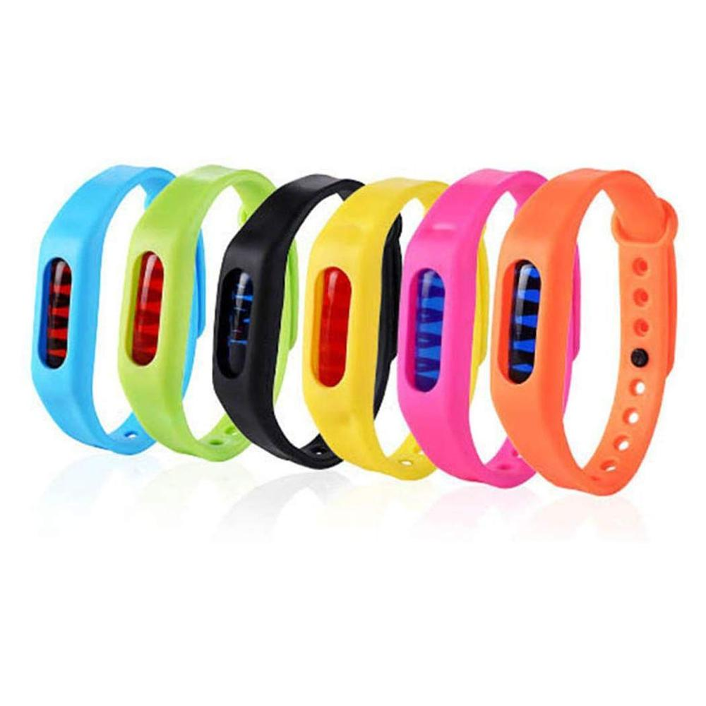 Color Mosquito Repellent Bracelet Summer Environmental Protection Silicone Capsule Bracelet Child Safety Belt Mosquito Killer-in Repellents from Home & Garden