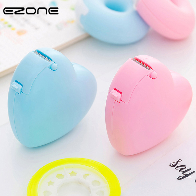 EZONE Candy Color Masking Tape Cutter Design Of Love Heart/Donut Shape Washi Tape Cutter Office Tape Dispenser School Supply