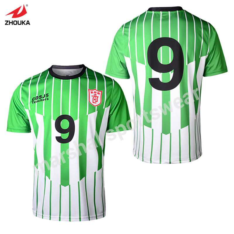 Inexperienced Workforce Jersey Full Sublimation 100%polyester Fast-Drying Oem Any Colour Design