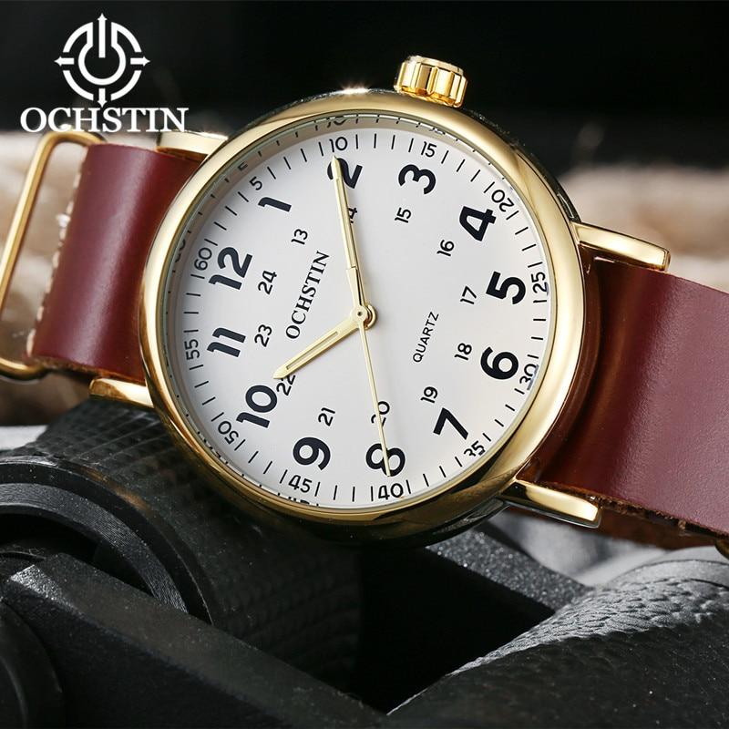2017 Nieuwe Lederen OCHSTIN Horloges Mannen Top Luxe Merk Hot Ontwerp - Herenhorloges - Foto 5