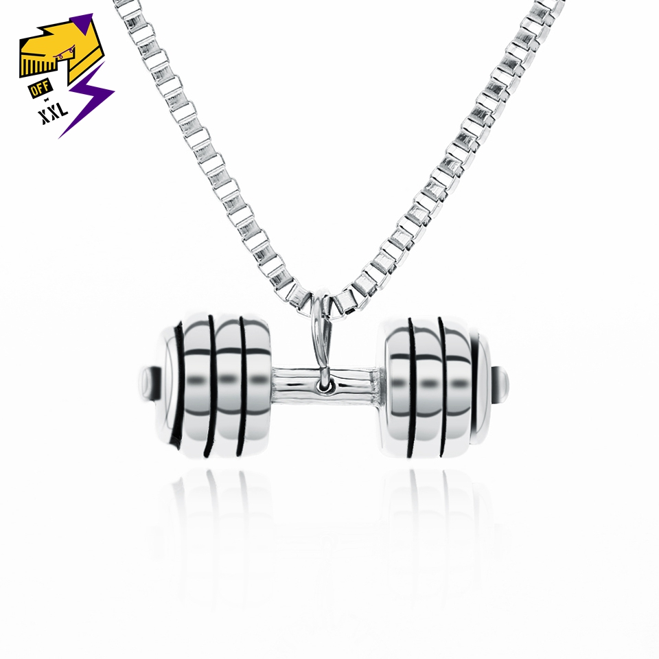 Women// Men/'s Silver 316L Stainless Steel Double Pendant Necklace No.9
