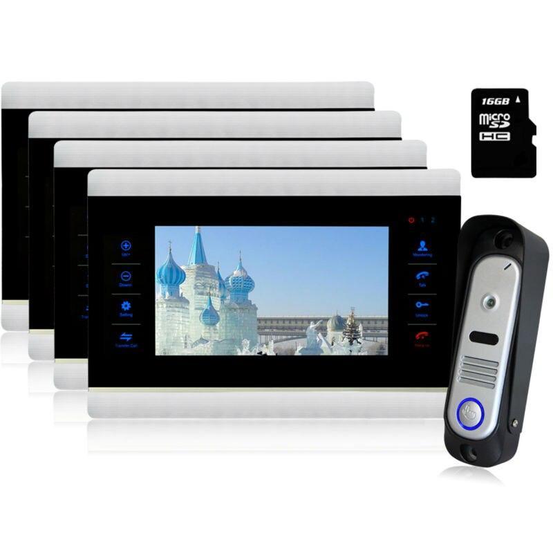 Homefong Video Doorbell Home Security System Kit 7 TFT Color Video font b door b font