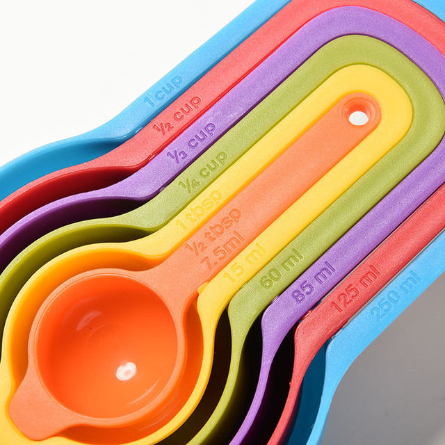 Plastic measuring spoons cups tablespoon set tools for for 6 tablespoons to cups