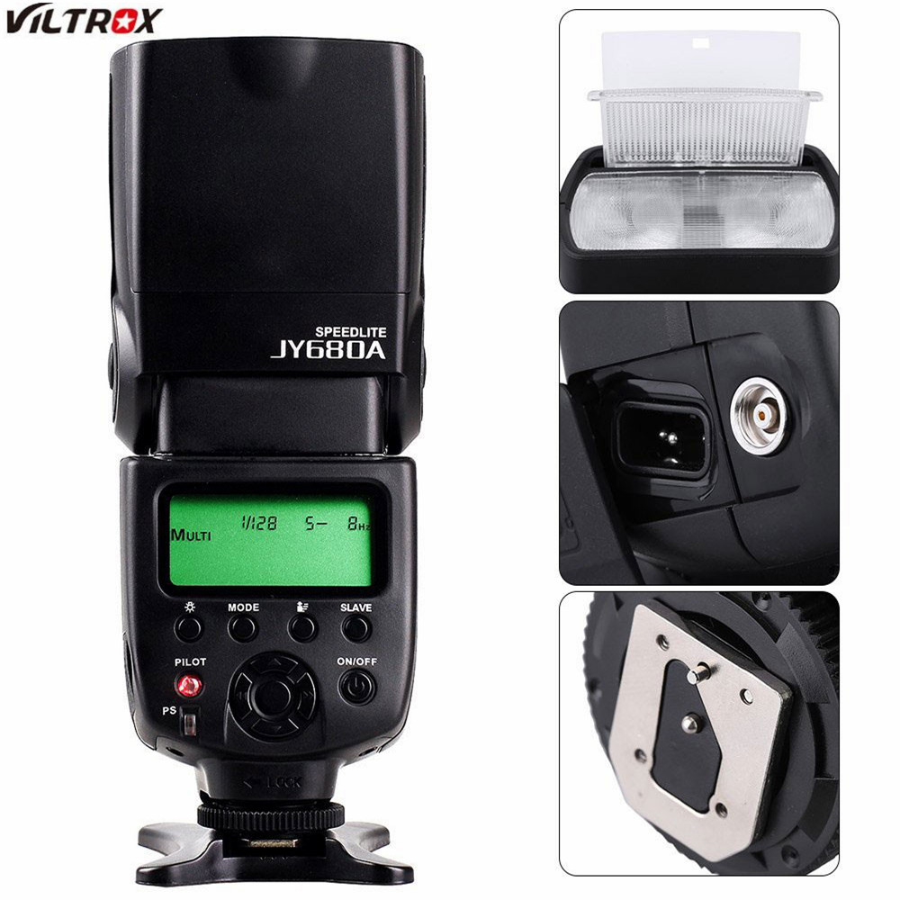 Viltrox JY-680A Universal Master Slave Flash Speedlight for Canon Nikon d7100 d3100 d90 d5300 d3200 Pentax Olympus DSLR Camera jy 680a universal camera lcd flash speedlite for canon 100d 1200d 650d 750d 70d 60d for nikon d90 d5100 d3200 d3300 d7100