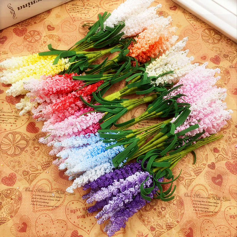 10 PCS / 1 (beam)/synthetic foam lavender stars the bride bouquet of wrist/hands DIY wedding home decoration