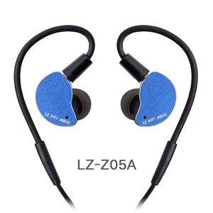 Image 2 - 2019 LZ Z05A באוזן אוזניות דינמי כונן HIFI IEM מתכת אוזניות Earbud עם נתיק לנתק MMCX כבל MMCX להסרה LZ A6