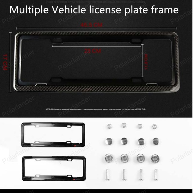 Big sale Carbon Fiber License Plate Frame Tag Cover Holder for Multiple Vehicles,free shipping