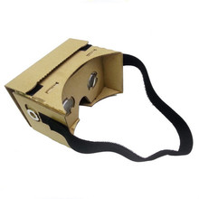Top Quality Black DIY Head Mount Strap For Google Cardboard vr Virtual Reality 3D Glasses free shipping
