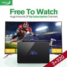 Dalletektv Inteligente Android TV Set-Top Box de IPTV iptv Caja 3G + 32G S912 Europa IUDTV QHDTV Cuenta IPTV Suscripción 1 Año
