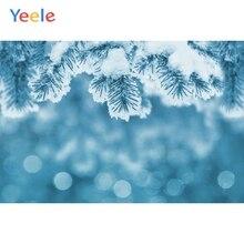 Yeele Merry Christmas Winter Tree Snow Dreamy Photography Backgrounds Custom Vinyl Photographic Backdrop For Photo Studio Props недорого