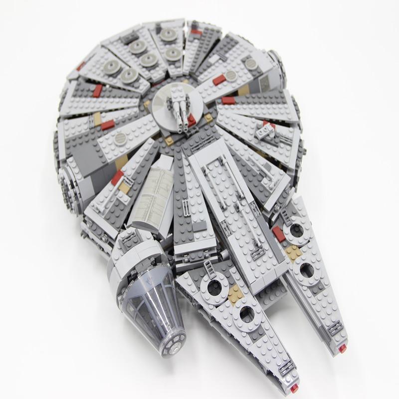 05007 1381pcs Millennium Falcon Mini Brick Models Building Blocks Toys For Children Starwars Han Solo