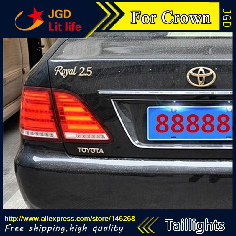 Car Styling tail lights for Toyota Crown 2003-2009 taillights LED Tail Lamp rear trunk lamp cover drl+signal+brake+reverse car styling tail lights for toyota corolla 2011 2013 taillights led tail lamp rear trunk lamp cover drl signal brake reverse