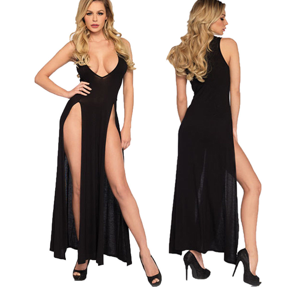 <font><b>Fashion</b></font> <font><b>Sexy</b></font> <font><b>Womens</b></font> Lace <font><b>Ladies</b></font> Long Dress G-String <font><b>Lingerie</b></font> Nightwear Sleepwear <font><b>Babydolls</b></font> Chemises image