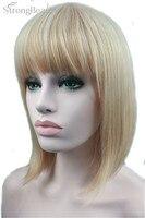 Sterke Beauty Synthetische Korte Bob Blond Haar Pruik Hittebestendige Pruik Voor Afrikaanse Vrouw