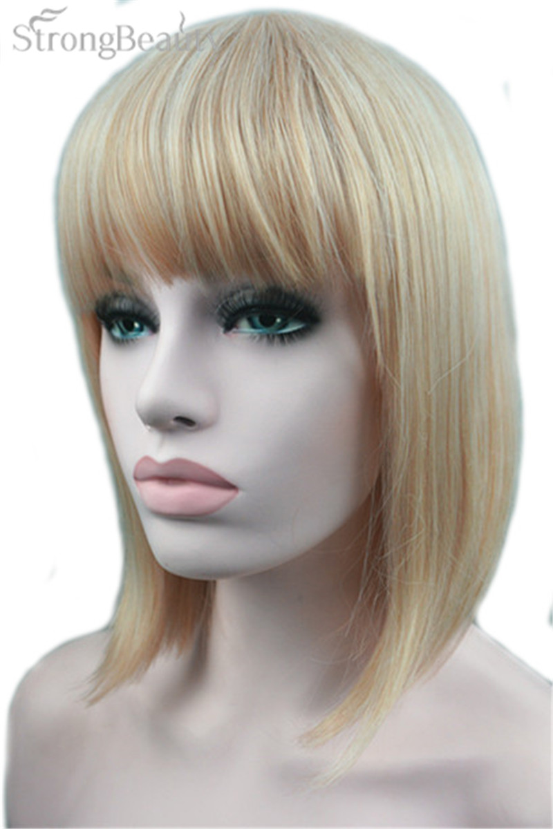 Strong Beauty Short Bob Blonde Hair Synthetic Wig Heat Resistant Wig For African Woman