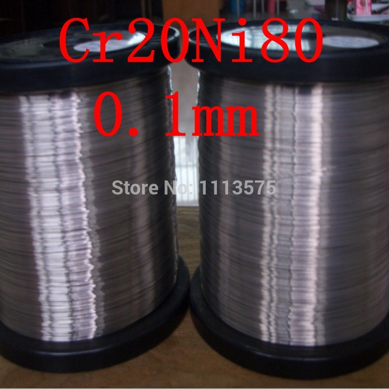 0.1mm authentic experiment DIY e cigarette nichrome Cr20Ni80 electrical resistance heating high temperature heat resistant wire 0 8mm nichrome resistance heating wire nickel chrome 80 20 various diameter and length