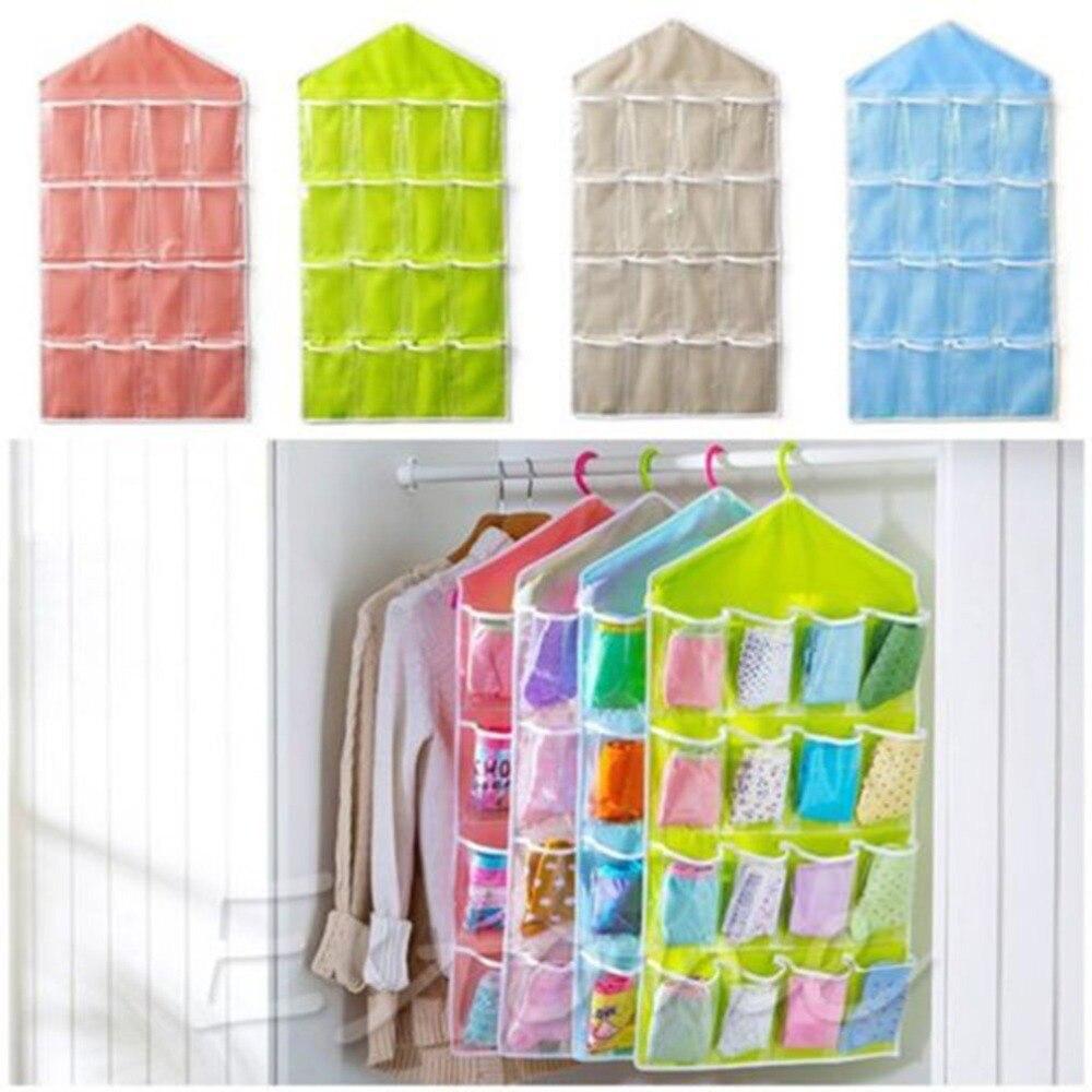 4 цвета 16 карманов прозрачный над пакет подвесной на дверь вешалка аккуратное хранение органайзер для дома ванная комната Гостиная бытовые мелочи