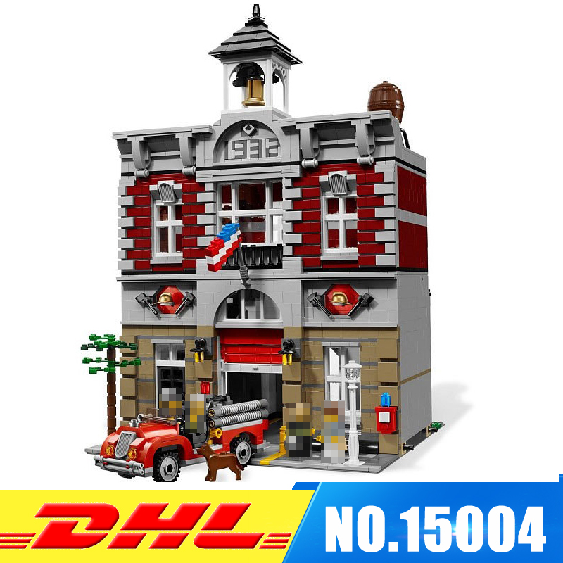 DHL Fast Shipping 2313Pcs LEPIN 15004 Doll House Model Building Blocks Bricks Develop intelligence Toys Compatible With 10197 lepin 15004 2313pcs city creator series fire brigade model building blocks bricks toys for children gift compatible 10197