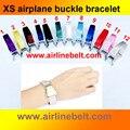 Envío gratis top únicos aviones avión aerolínea mini cinturón de hebilla de pulsera de moda para hombre y mujer