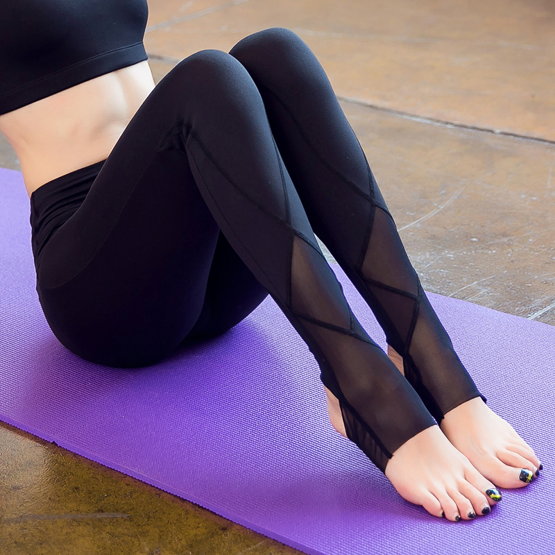 2017 Marque Nouvelles Femmes Sexy Yoga Pantalon Sec Fit Sport pantalon Fitness Gym Workout Pants pantalon à Courir Sport Leggings Femme pantalon