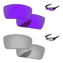 695ebbadaf Cromo de plata y Plasma púrpura 2 pares espejo polarizadas lentes para Gascan  gafas de sol marco 100% UVA y UVB protección