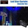 3 m * 4 m led estrela cortina 240 pcs mistura de cores rgb/rgbw para cenários de palco fundo led tela cortina de led