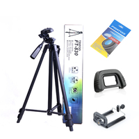 Portable Aluminum Telescopic Tripod FT830 Stand Holder For DSLR Camera Video Lens Cleaning Paper Phone Clip
