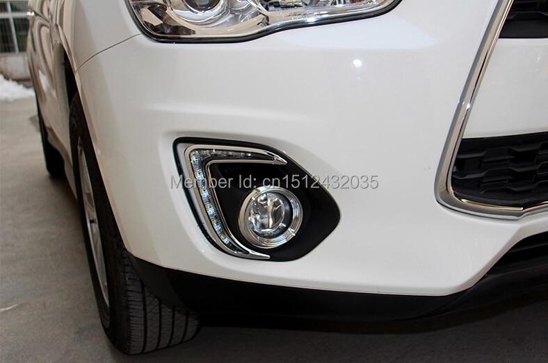бесплатная доставка, затемнения стиль реле и Водонепроницаемый автомобилей светодиодные DRL дневные ходовые огни для Мицубиси ASX 2013 2014 с 8 светодиодных чипов