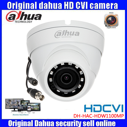 HD720p Dahua HDCVI Camera 1MP DH-HAC-HDW1100MP HDCVI IR Dome  Security Camera CCTVIR distance 20m HAC-HDW1100MP original dahua 4mp hdcvi camera dh hac hdw1400emp hdcvi ir dome security camera cctv ir distance 50m hac hdw1400em cvi camera