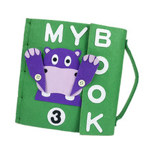 Handmade Quiet Book DIY Craft Kit Montessori Kid's Early Education Book Felt Package Toys Picture Books My First Book For Kids