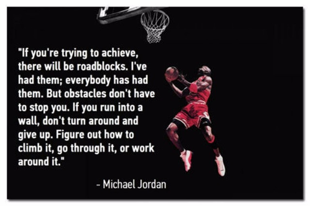 0980 Michael Jordan Basketball Motivational Quotes Wall Sticker Art