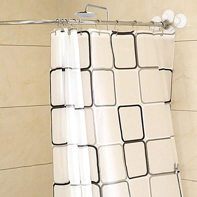 Practical Thickened Stainless Steel Shower Curtain Rod Sturdy Durable Bath Set