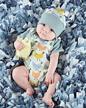 Cute Baby Boys Girls Clothes Cotton Bodysuits Jumpsuit Hat Cap Outfits Printed Cartoon Chick Baby Bodysuits with Hats 0-18Months