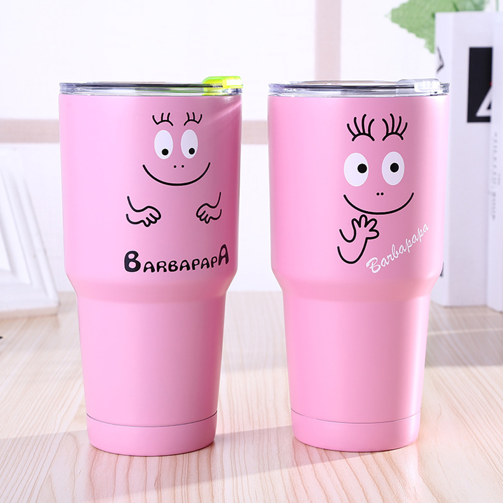 Hot sell Men Gift 30oz 20oz Colorful Pink Tumbler Bilayer Insulation Cups Cars Beer Mug Large Capacity Mugs Tumblerful Bottle