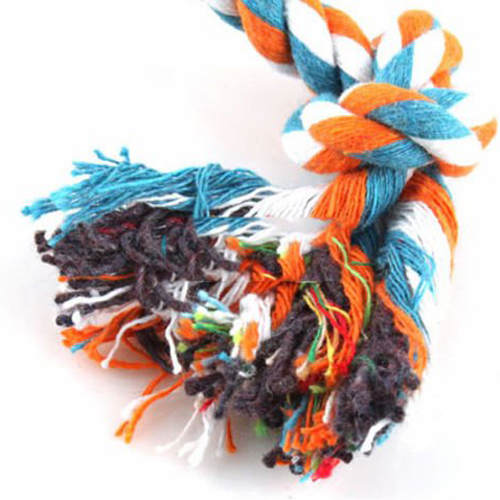 Durable Viskey Dog Pet Training Game Toys Colorful Cotton Chew Rope Toys