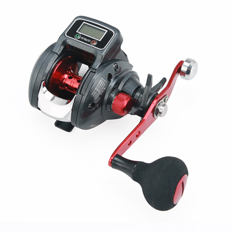 18 New 13 1 Bearing Left Right Fishing reel with Digital Display Fishing Line Counter Saltwater