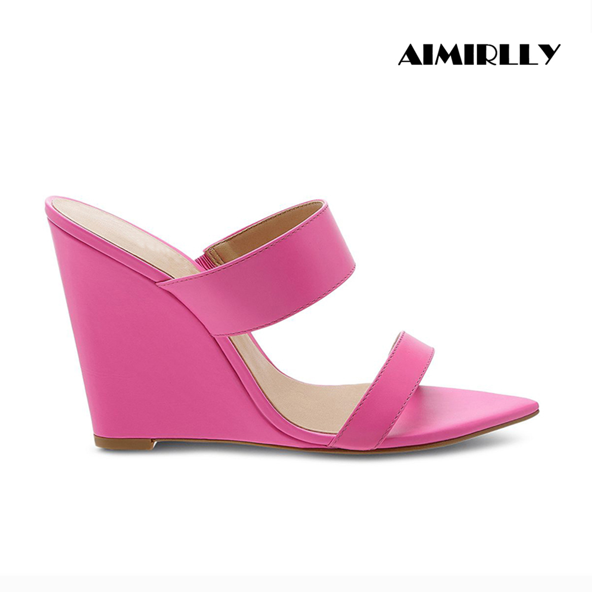 Aimirlly Wedges Heels Pointed-Toe Slippers Sandals Women Shoes Comfortable Summer Ladies
