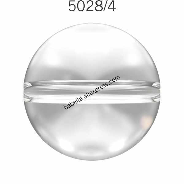 (1 pieza) 100% cristales originales de Swarovski 5028/4, Cuenta de globo de cristal, cuentas de pedrería suelta de Austria para hacer joyería DIY