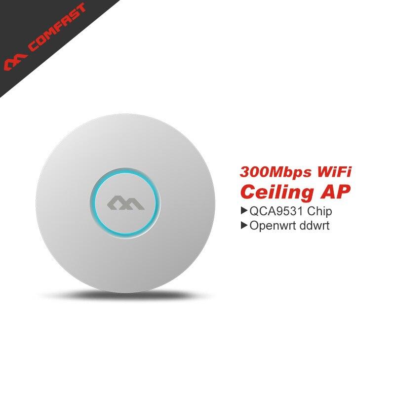 COMFAST cf-e320n-v2 Крытый беспроводной маршрутизатор 300 Мбит/с потолочная AP OpenWRT точка доступа Wi-Fi AP поддерживают 48 vpoe wi-fi усилитель сигнала ...