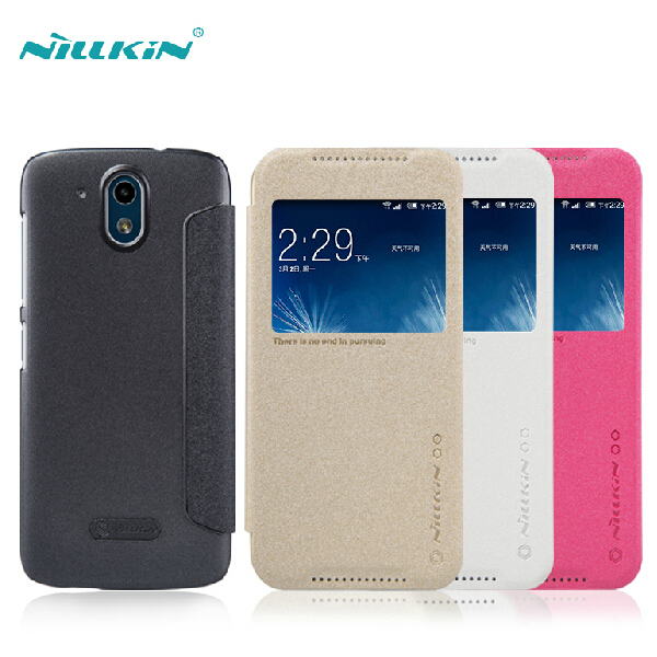 hot sales 92b17 91e1f US $6.49 |Nillkin Frosted flip case for htc desire 626 with leather and pc  bottom window cover for htc626 with retail box on Aliexpress.com | Alibaba  ...