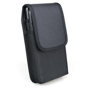 Image 1 - אנכי כפול טלפון סלולרי חבילת מותניים עם חגורה לולאות עבור iPhone Xs מקס/סמסונג הערה 9 /Huawei ניילון נרתיק כפול טלפון פאוץ