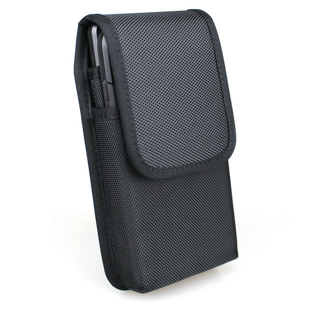 垂直ダブル携帯電話のウエストパックとベルトループ iphone xs 最大/サムスン注 9/huawei 社ナイロンホルスターデュアル電話ポーチ