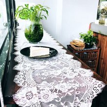 35X300CM Wedding Decoration White Lace Table Runner Baby Sho